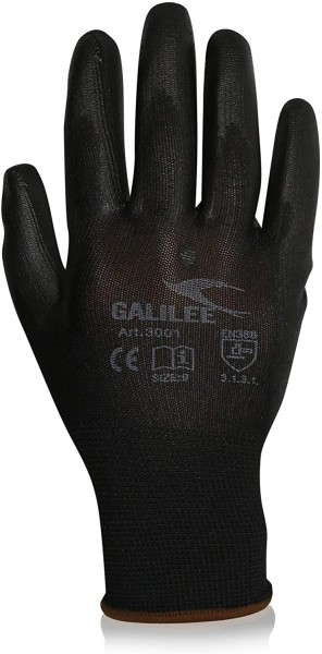 GALILEE Nylon-Strickhandschuhe Black